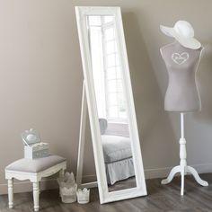 Miroir psyché blanc H 164 cm ENZO