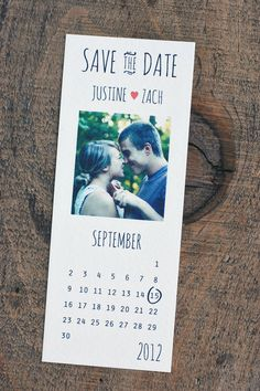 calendar Save the Date by