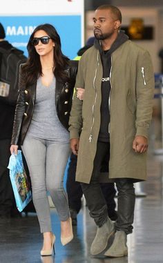 Kim Kardashian and Kanye West style.