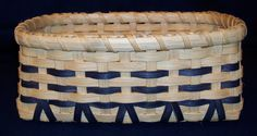 Handmade Basket  -- Melanie's thoughts:  this pic is from an esty shop & the basket is no longer available - but I think I can figure this out - looks like these are filler spokes which come from the bottom to form the ^