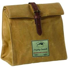 Trouva: Gentlemen's Hardware Waxed Canvas & Thermal Lined Travel Lunch Bag