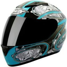SHOX AXXIS LILY LADIES WOMENS MOTORCYCLE MOTORBIKE FULL FACE HELMET GHOSTBIKES