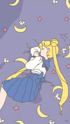 Sailor moon sleeping nap goodnight