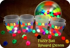 Fuzzy ball reward system! Sounds like a great idea. I'm going to try this one!!
