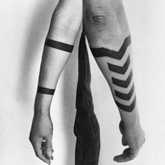 What does chevron tattoo mean? We have chevron tattoo ideas, designs, symbolism and we explain the meaning behind the tattoo. Forearm Band Tattoos, Circle Tattoos, Arrow Tattoos, Body Art Tattoos, Sleeve Tattoos, Cool Tattoos, Tatoos, Chevron Tattoo, Tattoo Tribal