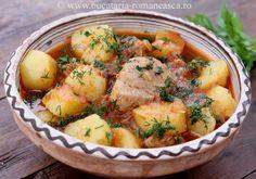 Mancare de cartofi cu carne Romanian Food, Potato Salad, Good Food, Favorite Recipes, Mai, Cooking, Ethnic Recipes, Food, Fine Dining