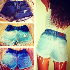 Ombre' Highwaisted Shorts!