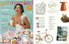Get Married Magazine - Registry Redefined, January 2011, Recycled Bicycle Chain Bottle Opener