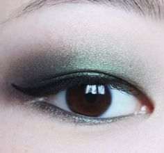 Green-on-green eye makeup look