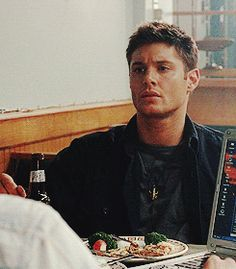 """If you pull that string one more time I'm going to kill you"" - Supernatural"" Season One: Hell House (2006)    Clicky for gif."