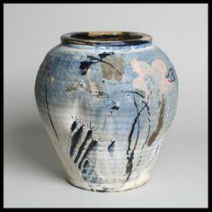 Claude Varlan (né en 1940) - Jarre, décor japonisant, 1992