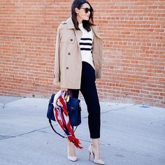 20 Ways To Style Your Favorite Trench Coat Trench Coat Outfit, Beige Trench Coat, Trench Coats, Rainy Day Outfit For Spring, Outfit Of The Day, Black Ankle Pants, Work Wardrobe, Wardrobe Ideas, Capsule Wardrobe