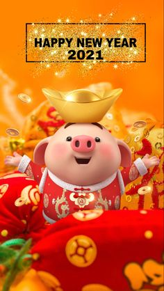 Chinese New Year Design, Chinese New Year Card, Pig Wallpaper, Cake Decorating Piping, Cute Piggies, Happy New Year 2020, Little Pigs, Guinea Pigs, New Day