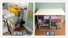 How to be organized with a DIY fabric storage station step by step tutorial instructions How To Make Everything, Be Organized, Drawer Storage Unit, Quilting Room, Space Crafts, Craft Space, Fabric Storage, Cool Diy Projects, Home Organization