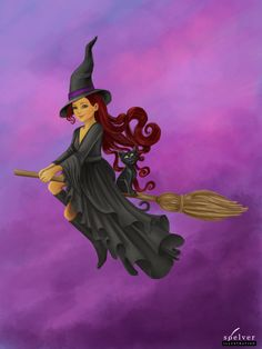 The not so wicked witch jottouchpen | art by Anita Sølver
