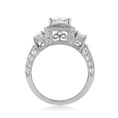 3.52ct Radiant Cut Diamond Engagement Ring SKU: 3240-1