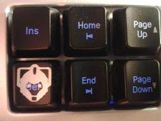 Awesome! DELETE key Decal - 4 Pack of Doctor Who  - Cybermen - DELETE key decal custom cut to order.