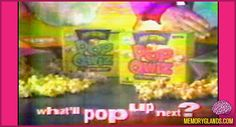 Pop Secret created a variety of colored popcorn called Pop Qwiz in the early-1990s. Colors included yellow, blue, green, and a mystery bag with a surprise color.