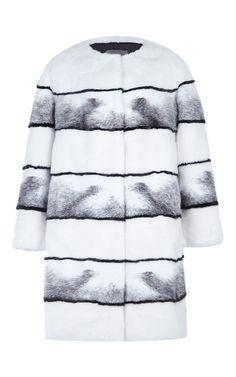 Sarah Long Mink Coat by LILLY E VIOLETTA  for Preorder on Moda Operandi
