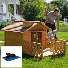 60 Best Dog House Plan Ideas for Your Beloved Pets - Enjoy Y.- 60 Best Dog House Plan Ideas for Your Beloved Pets – Enjoy Your Time 60 Best Dog House Plan Ideas for Your Beloved Pets – Enjoy Your Time - Wood Dog House, Build A Dog House, Dog House Plans, House Building, Cabin Plans, Building Plans, Luxury Dog House, Niches, Backyard Sheds