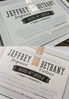 Printed Wedding Invite by Jeffrey Jorgensen