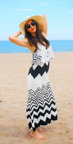 Vacaciones en Plutón: Striped Long DRESS #kissmylook