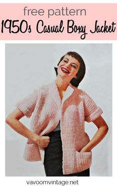 Free Pattern: Knitted Jacket free knitting pattern vintage chunky boxy jacket Source by wilkenmarcel Easy Crochet Shrug, Easy Knitting, Knitting Patterns Free, Free Pattern, Crochet Patterns, Sock Knitting, Knitting Tutorials, Knitting Machine, Crochet Granny