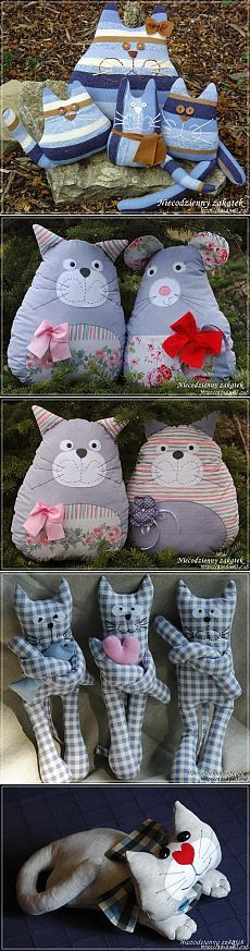 Cats Toys Ideas - Красивые подушки - Ideal toys for small cats Stuffed Animal Patterns, Diy Stuffed Animals, Animal Cushions, Ideal Toys, How To Make Toys, Cat Quilt, Cat Pillow, Fabric Toys, Small Cat