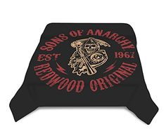 Limited Edition Sons Of Anarchy Redwood Original Blanket- SOA Merchandise is Perfect for Home Decor, Gifts, Accessories, Memorabilia, Collectables-This is a Soft, Plush, Thick, Queen/Full Size Mink Blanket-THIS IS NOT A CHEAPLY MADE FLEECE THROW-Life Time Guarantee MTCFASHION http://www.amazon.com/dp/B00GNMQVKM/ref=cm_sw_r_pi_dp_87Rxub1CYGR7C