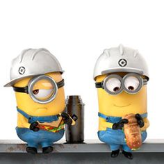 Minion Workers At Lunch Minion Rock, Cute Minions, Minions Despicable Me, Minions 2014, Funny Minion, Minion Pictures, Funny Pictures, Funny Images, Despicable Me