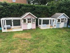 Rabbit or Guinea pig boarding playhouse. A hutch is not enough, like the additions. Bunny Sheds, Rabbit Shed, Rabbit Run, House Rabbit, Rabbit Toys, Guinea Pig Run, Guinea Pig Hutch, Guinea Pig House, Bunny Hutch