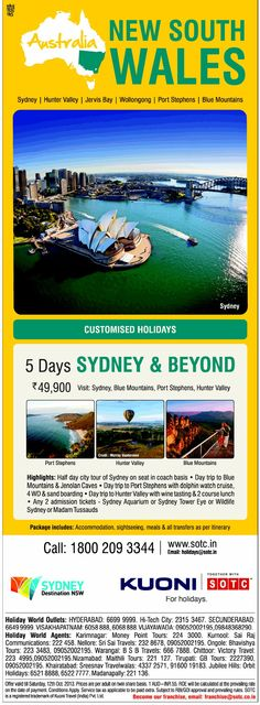 SOTC Enjoy 5D in New South Wales, Australia at Rs. 49,900