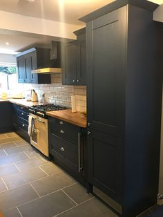 Completed kitchen photos for Mr & Mrs S from Harlow. Eastwood Stiffkey Blue door with Solid Oak worktops. Talk to Wright Kitchens Today. Kitchen Units, New Kitchen, Kitchen Cabinets, Kitchen Ideas, Kitchen Sink, Stiffkey Blue, Open Plan Kitchen Dining Living, Logo Image, Kitchen Conversion