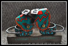 Chunky spurs with cowboy spur straps