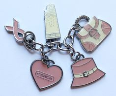 Coach Breast Cancer Awareness Coach Charms Key Chain by paststore on Etsy