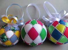 Christmas Ornament Tutorial  Argyle Kimekomi by OrnamentDesigns