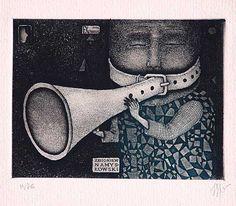 Zbigniew Namysłowski, etching/aquatint, 1976, 93x125 mm