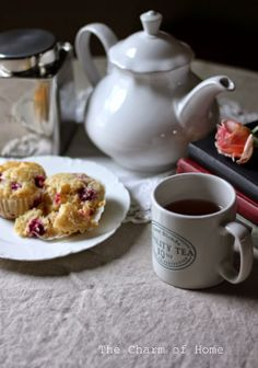 The Charm of Home: Blackberry Muffin Tea