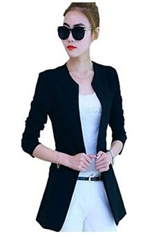 Aro Lora Womens Lapel Stripe OL Single Button Casual Blazer Suit Jacket US 46 Red ** Find out more about the great product at the image link.