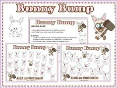 Here's a bunny themed BUMP board for working on addition and subtraction.