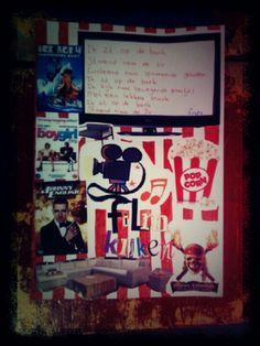 Een collage maken rondom je gedicht. Bij mij in de groep hadden ze een rondeel gemaakt rondom een thema die ze zelf hadden gekozen. Dit thema moesten ze terug laten komen in hun collage. Uit tijdschriften plaatjes/letters/vormen halen, plaatjes van internet en zelf nog vormgeven. Hier een mooi voorbeeld van een rondeel over  'TV kijken'