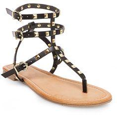 Women's Gertie Gladiator Sandals - Black 6.5
