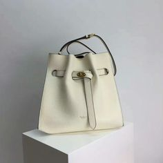 9777731b10 Summer 2017-Mulberry Small Tyndale Bucket Bag in white Small Classic Grain  Leather