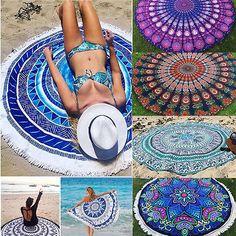 Rodada Hippie Boho Indiano Mandala Tapeçaria Tapete Toalha de Piquenique Na Praia Jogar Cobertor(China (Mainland))