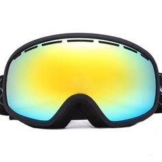 Anti-fog ski goggles 100% UV proof Double Extra-large Lens skiing Glasses skateboard Snowboard eyewear protect snow-2700