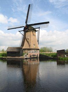 Dutch Windmill, Kinderdijk, Netherlands