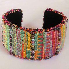 Bead/Tapestry Cuff Bracelet