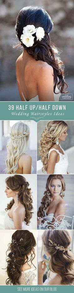 39 Half Up Half Down Wedding Hairstyles Ideas❤ We collected only the best ideas for half up half down hairstyles that would look perfect whether you are going for classic, boho or vintage wedding theme. See more: http://www.weddingforward.com/half-up-half-down-wedding-hairstyles-ideas/ #wedding #hairstyles