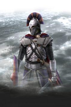 Fierce! Medieval Knight - By Noson Art Medieval Knight, Medieval Fantasy, Knights Of Honor, Deadliest Warrior, Archangel Tattoo, Roman Armor, Roman Warriors, Spartan Warrior, Evil Art