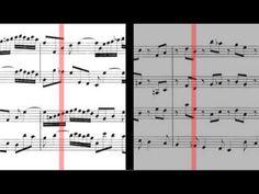 BWV 1060 - Concerto for 2 Harpsicords in C Minor (Scrolling)